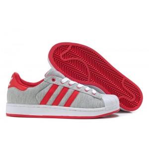 Comprar Mujer Adidas Originals Superstar 2 Casual Zapatillas Grises Rojas G17252 España Rebajas