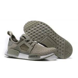 Nueva Hombre Mujer Adidas Originals NMD XR1 Zapatillas de Running Olive Verdes Blancas España Rebajas