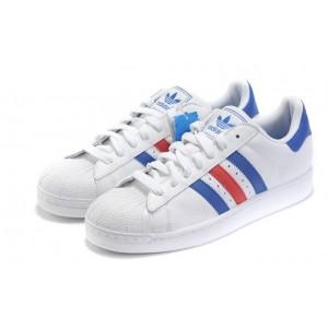 Venta Adidas Originals Superstar II Zapatillas Hombre Mujer Azul Rojas Blancas G50974 Outlet España
