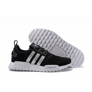 Nueva Adidas NMD XR4 Running Suede Hombre Zapatillas Negras Blancas Online Baratas