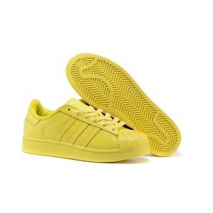 Compra Hombre Mujer Bright Amarillo S41837 Adidas Originals Superstar Supercolor PHARRELL WILLIAMS Zapatillas España Online