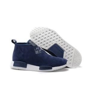 Nueva Hombre Adidas NMD Chukka Suede Zapatillas de Running Marino Blancas Baratas