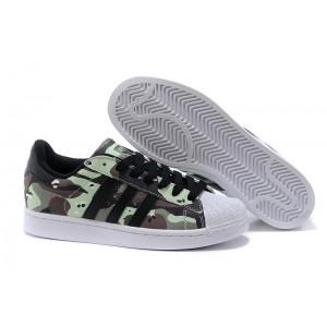 Compra Hombre Mujer Adidas Originals Superstar II Casual Zapatillas Bliss Negras Blancas Q20637 España