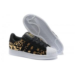 Comprar Adidas Originals Superstar Sparkle Hombre Mujer Casual Zapatillas Negras Doradas España