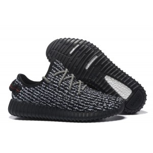 Oferta Hombre Mujer Adidas Yeezy Boost 350 Negras Blancas Zapatillas España Online