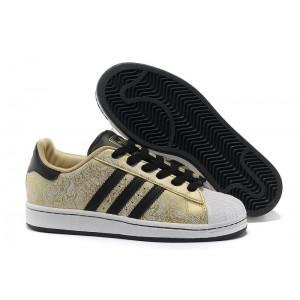 """Nueva Hombre Mujer Adidas Originals Superstar 2 """"Phoenix Grain"""" Casual Zapatillas Metallic Doradas Negras-Blancas G63095 España Online"""