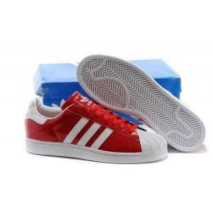 Nueva Adidas Originals Classic Superstar 2 Rojas Blancas D65602 Hombre Mujer Casual Zapatillas Outlet España