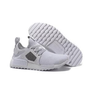 Oferta Hombre Mujer Adidas NMD XR1 Zapatillas de Running Pure Blancas Grises España Rebajas