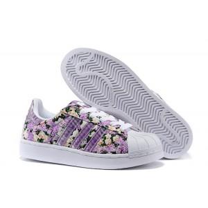 Oferta Mujer Adidas Originals Superstar 2 Morado Print Casual Zapatillas España Online
