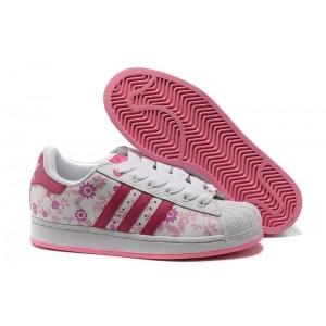 Oferta Adidas Originals Superstar 2 Print Mujer Blancas Rosa 019784 Casual Zapatillas Outlet España