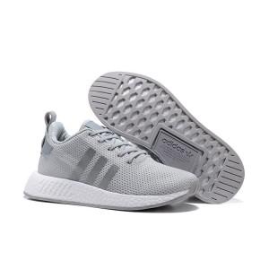 Venta Hombre Adidas Originals NMD City Sock 2 PK Zapatillas de Running Claro Grises Plata BB2950 Rebajas