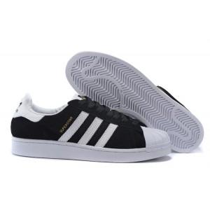 Venta 2016 Hombre Mujer Adidas Originals Superstar East River Rivalry Zapatillas Negras Doradas Blancas B34309 Outlet España