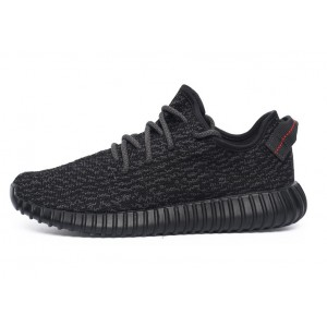 "Nueva 2016 New Release Hombre Mujer Adidas Yeezy Boost 350 ""Pirate Negras"" Zapatillas Pirate Negras AQ2659 Outlet España"