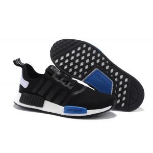 Venta Adidas Originals NMD High Top Hombre Mujer Zapatillas Negras Royal Azul S79162 España