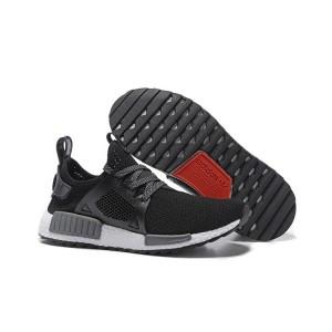 Venta Hombre Mujer Adidas NMD XR1 Zapatillas de Running Negras Wolf Grises Baratos