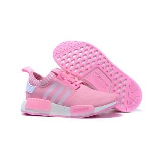 Comprar Mujer Zapatillas - Adidas Originals NMD High Top Rosa Blancas Online Baratas