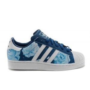 Nueva Mujer Adidas Originals Superstar 2 Rose Floral Lifestyle Casual Zapatillas Azul Blancas D65475 España Rebajas