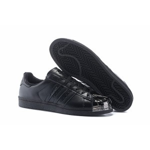 Venta Hombre Mujer Adidas Originals Superstar Pharrell Williams x Supercolor Pack Zapatillas Negras Metallic S41899 Baratos