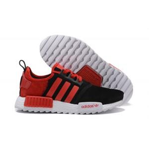 Venta Hombre Mujer Adidas NMD XR4 Running Suede Zapatillas Negras Bright Rojas Baratas