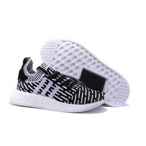 Venta Hombre Mujer Adidas NMD R2 Zapatillas de Running Negras Blancas España Baratas