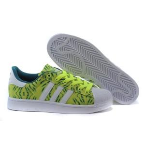 Venta Hombre Mujer Adidas Originals Superstar II Casual Zapatillas Amarillo Blancas Verdes C75314 Rebajas Baratas