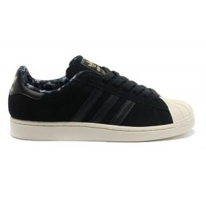 Oferta Adidas Originals Superstar 2 Hombre Mujer Casual Zapatillas Negras Doradas D66091 Online Baratas
