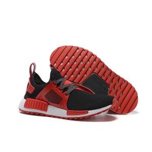 Nueva Hombre Adidas NMD XR1 Zapatillas de Running Negras Varsity Rojas Baratas