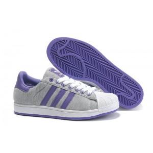 Oferta Hombre Mujer Grises Morado G17251 Adidas Originals Superstar 2 Casual Zapatillas Rebajas Baratas