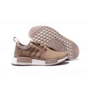 Oferta Hombre Zapatillas - Adidas Originals NMD High Top Marrones Blancas Baratas