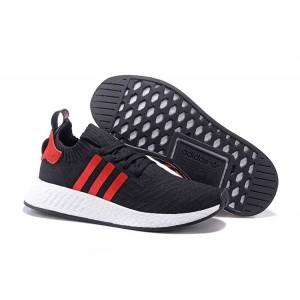 Oferta Hombre Adidas NMD R2 Zapatillas de Running Negras University Rojas Baratas