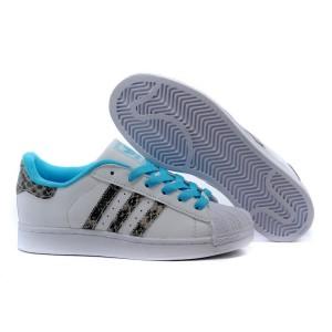 """Comprar Hombre Mujer Blancas BRCYAN Azul M20899 Adidas Originals Superstar 2.0 """"Snake"""" Casual Zapatillas Baratas"""