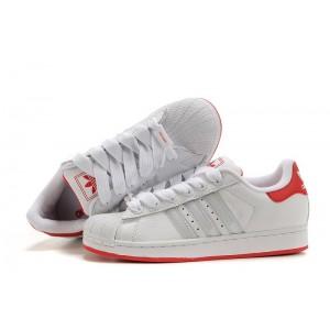 Nueva Mujer Blancas Rojas 919618 Adidas Originals Superstar 2 Casual Zapatillas Baratos