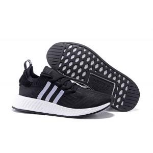 Nueva Hombre Mujer Adidas NMD R2 Zapatillas de Running Negras Blancas Baratos