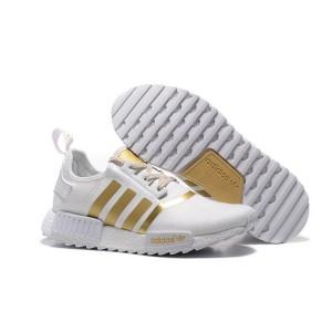 Comprar Hombre Mujer Adidas Originals NMD XR4 Zapatillas de Running Blancas Doradas España Rebajas