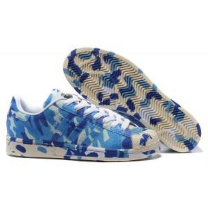 "Oferta Adidas Originals Superstar ""Graphic Pack"" - 2016 Hombre Mujer Zapatillas Azul B35406 Baratos"