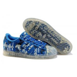 Venta Adidas Originals Superstar CLR Hombre Mujer Zapatillas Azulbird eggplant 027782 Outlet España