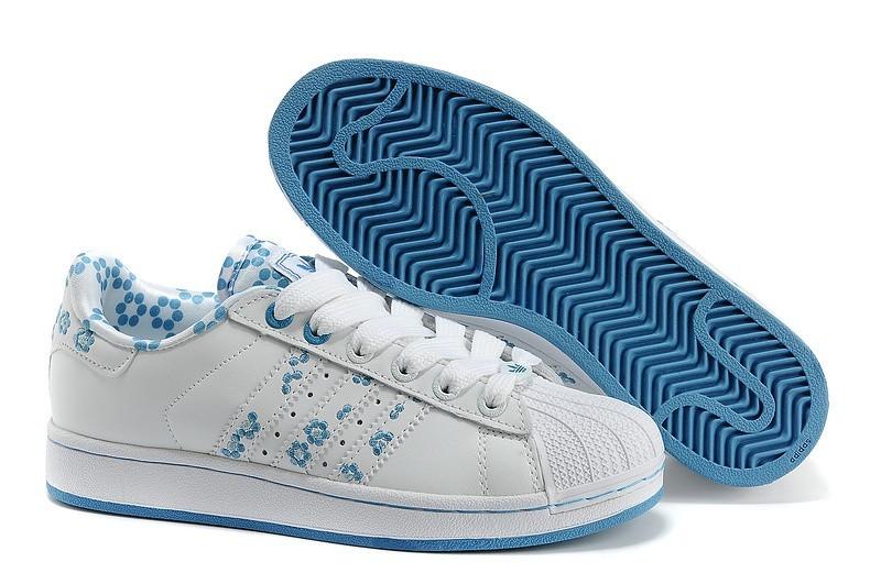 newest 3824c 39bb3 Oferta Mujer Blancas Azul Adidas Originals Superstar 2 Casual Zapatillas  España Rebajas
