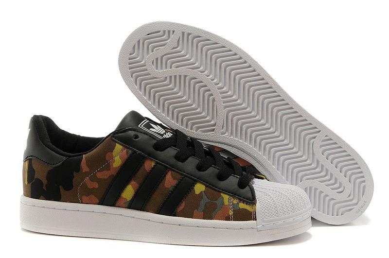 Nueva Hombre Mujer Adidas Originals Superstar II Casual Zapatillas Negras Marrones-Camo M20895 España Online