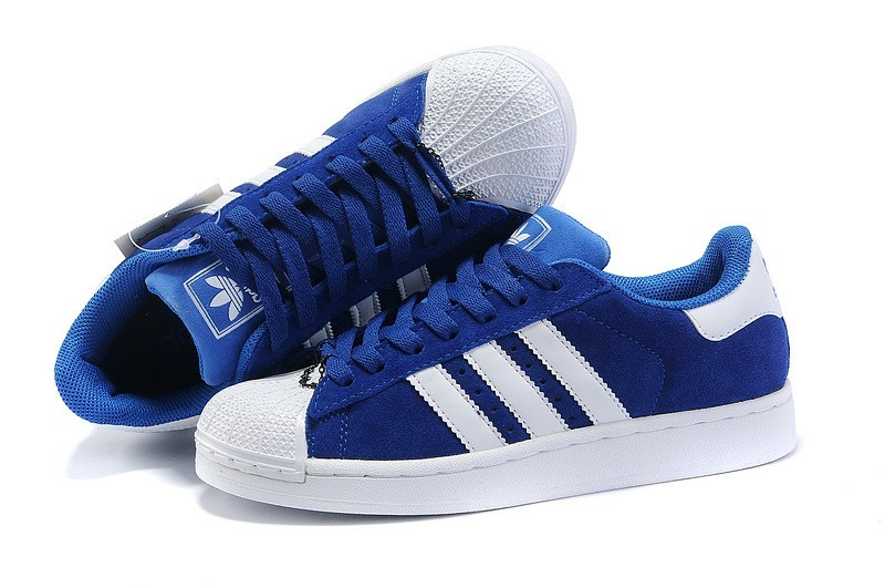 Compra Mujer Adidas Originals Superstar 2 Casual Zapatillas Marino Azul Blancas G17256 Outlet España