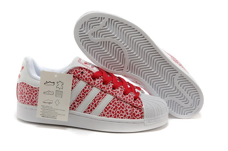 Nueva Mujer Adidas Originals Superstar 2 Casual Zapatillas Pattern Blancas Beauty Rojas D65477 España Baratas