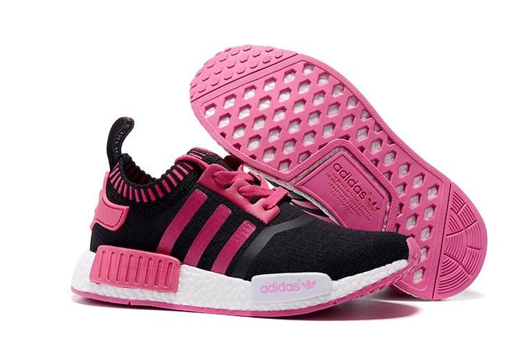 Venta Mujer Zapatillas - Adidas Originals NMD High Top Negras Rosa España Baratas