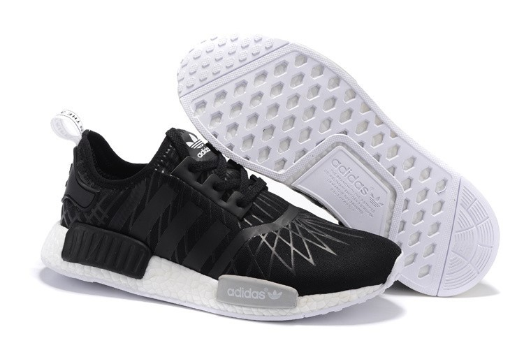 Oferta Adidas Originals NMD High Top Hombre Mujer Zapatillas Negras Blancas S79386 Baratas