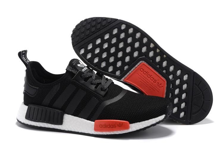 Nueva Adidas Originals NMD High Top Hombre Mujer Zapatillas Negras Rojas AQ4498 Rebajas