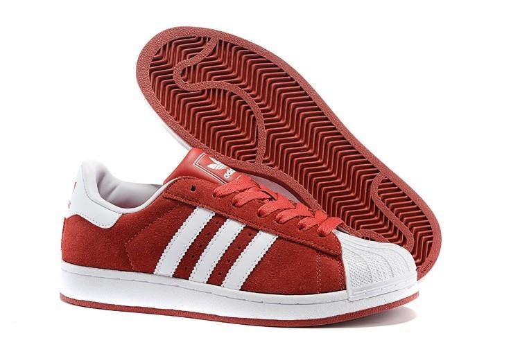 Compra Hombre Mujer Adidas Originals Superstar 2 Casual Zapatillas Rojas Blancas G50966 Rebajas Baratas