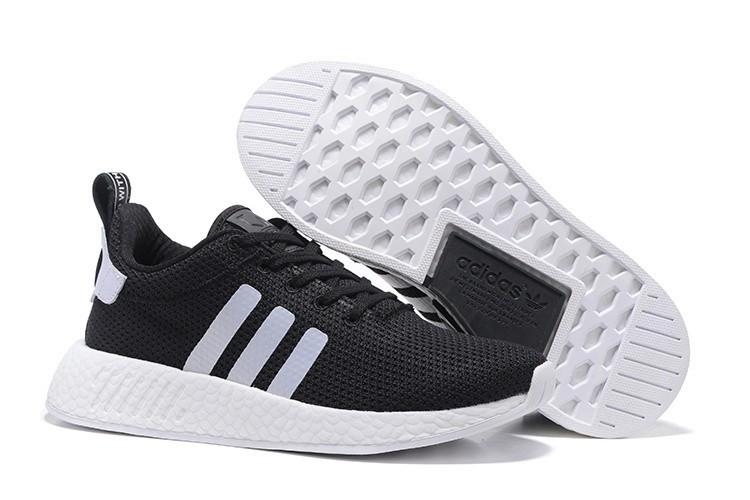 Compra Hombre Mujer Adidas Originals NMD City Sock 2 PK Zapatillas de Running Negras Blancas BB2953 Baratas