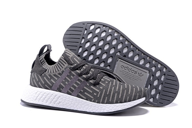 Compra Hombre Adidas NMD R2 Zapatillas de Running Oscuro Grises Claro Grises Rebajas Online