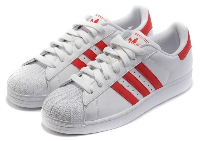 Nueva Hombre Mujer Adidas Originals Superstar II Zapatillas Blancas Scarlet G43681 España Baratas