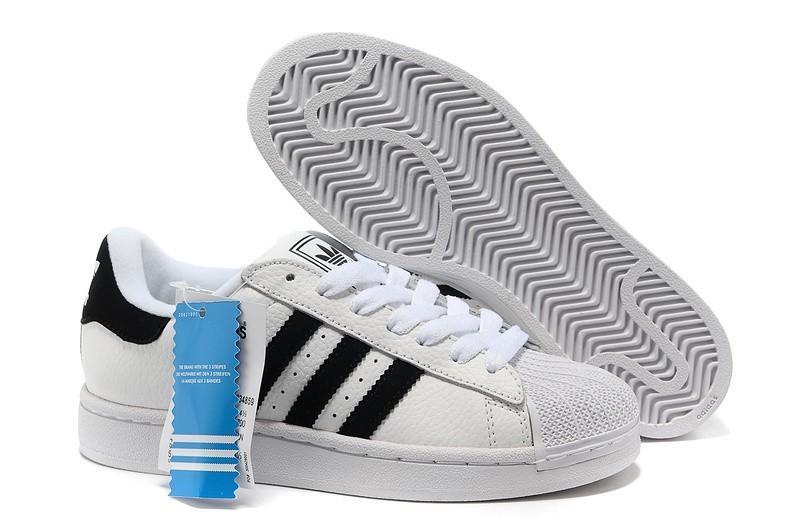 Venta Hombre Mujer Adidas Originals Superstar 2 Casual Zapatillas Blancas Negras 034859 Rebajas Online