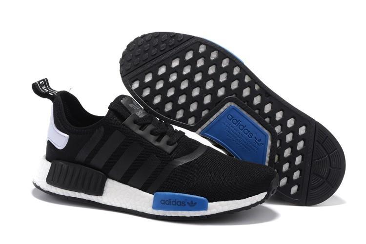 pretty nice 13c34 10032 Venta Adidas Originals NMD High Top Hombre Mujer Zapatillas Negras Royal  Azul S79162 España