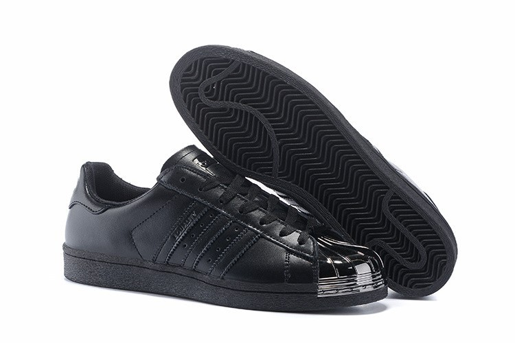 Venta Hombre Mujer Adidas Originals Superstar Pharrell Williams x Supercolor Pack Zapatillas Negras Metallic S41899 Baratos